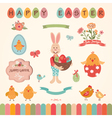 easter graphic elements set vector image vector image