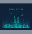 eindhoven skyline netherlands line big city vector image