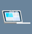electronic device laptop for work and study vector image vector image
