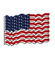 flag united states of america waving colorful vector image vector image