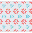 floral daisy seamless background vector image vector image
