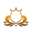 gold king shield logo icon vector image