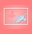 happy valentines day concept of love paper art vector image vector image