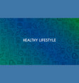 healthy lifestyle banner4 vector image