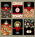 Holiday banner set of Christmas in flat style vector image vector image