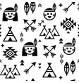 indian seamless pattern for boys and girls vector image vector image