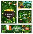 irish religious holiday st patricks day symbols vector image