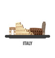 italy travel location vacation or trip and vector image