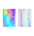 kawaii background with rainbow princess gradient vector image vector image