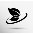 leaf icon symbol nature sign element vector image vector image