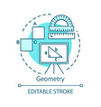 learning geometry school supplies concept icon vector image
