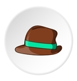 Mens hat icon cartoon style vector image vector image
