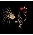 New year holiday card Stylized cock on a black vector image