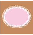 oval white lace-like frame vector image vector image