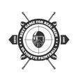 paintball club logo template pint ball gun vector image vector image