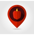 Pepper flat mapping pin icon vector image vector image