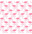 pink flamingos seamless pattern design vector image vector image