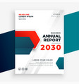 professional business annual report modern vector image vector image