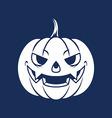 Pumpkin Head Silhouette vector image vector image