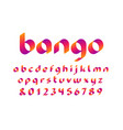 ribbon font alphabet with lowercase letters and vector image vector image