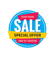 sale circle banner special offer abstract badge vector image