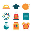 school education supply class stationery flat vector image vector image
