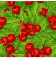 Seamless background with Christmas holly vector image