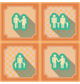 Seamless background with family members vector image vector image