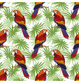 seamless parrot and leaves vector image vector image