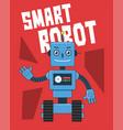 smart robot vector image