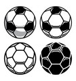 soccer ball set 001 vector image