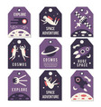 space theme cards vector image