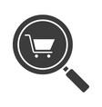 supermarket search glyph icon vector image vector image