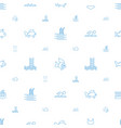 swimming icons pattern seamless white background vector image vector image