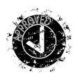 texture approved stamp print grunge vector image