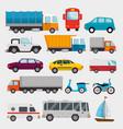 transport logistic set vehicles vector image vector image