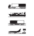 transportation of cargo containers vector image vector image