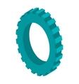 tridimensional silhouette blue gear wheel icon vector image vector image