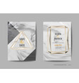 wedding invitation cards collection save the date vector image