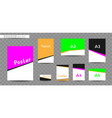 white print sizes company advertisement vector image
