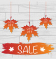 white wooden sale background vector image vector image