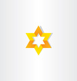yellow orange star icon sign vector image