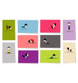 yoga practice cards vector image vector image