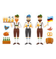 smiling bavarian man with red beard and moustache vector image