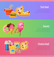 banner template fast food for food festival vector image