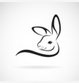 a rabbit head design on white background wild vector image vector image