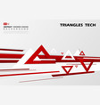 abstract gradient decoration red triangles tech vector image vector image