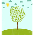 Abstract summer background with tree vector image