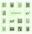 accounting icons vector image vector image