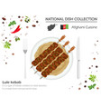 afghani cuisine middle east national dish vector image vector image